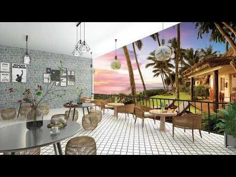 リゾートカフェ 癒しのリラックスジャズと夕焼け|スコール 雨の音 カフェ雑音|作業用BGM
