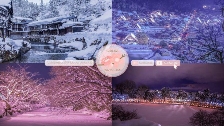 Japanese Snow Relaxation Photos EP67 | Relaxing Music • 美しいリラックスミュージック • ヨガ瞑想リラクゼーション • 美しい音色 ピアノ