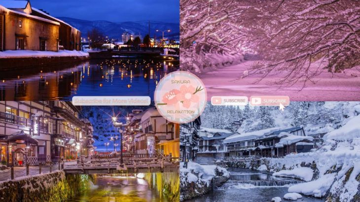 Japanese Snow Relaxation Photos EP61 | Relaxing Music • 美しいリラックスミュージック • ヨガ瞑想リラクゼーション • 美しい音色 ピアノ