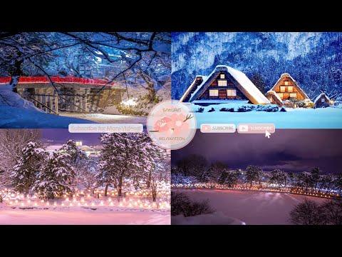 Japanese Snow Relaxation Photos EP39 | Relaxing Music • 美しいリラックスミュージック • ヨガ瞑想リラクゼーション • 美しい音色 ピアノ
